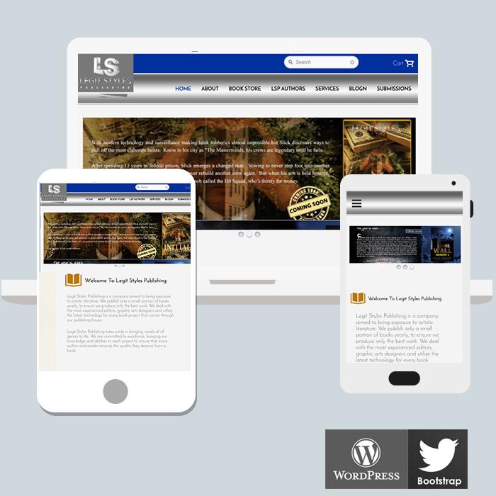 e commerce website book publisher