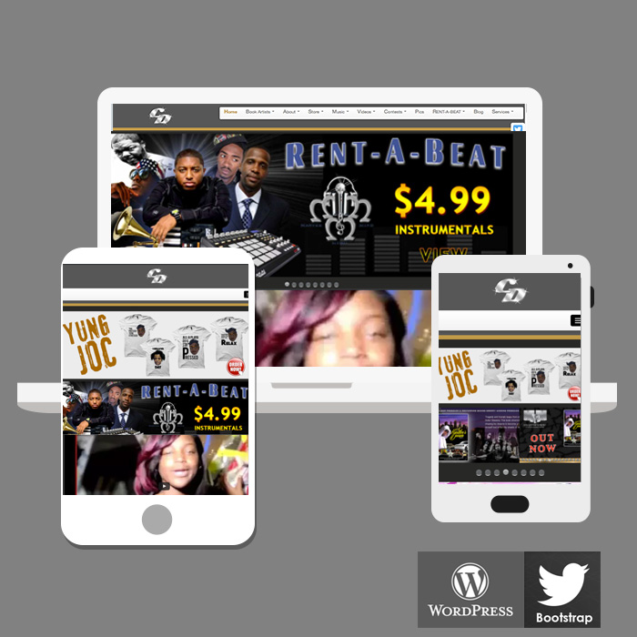 Record Label Website Design Atlanta