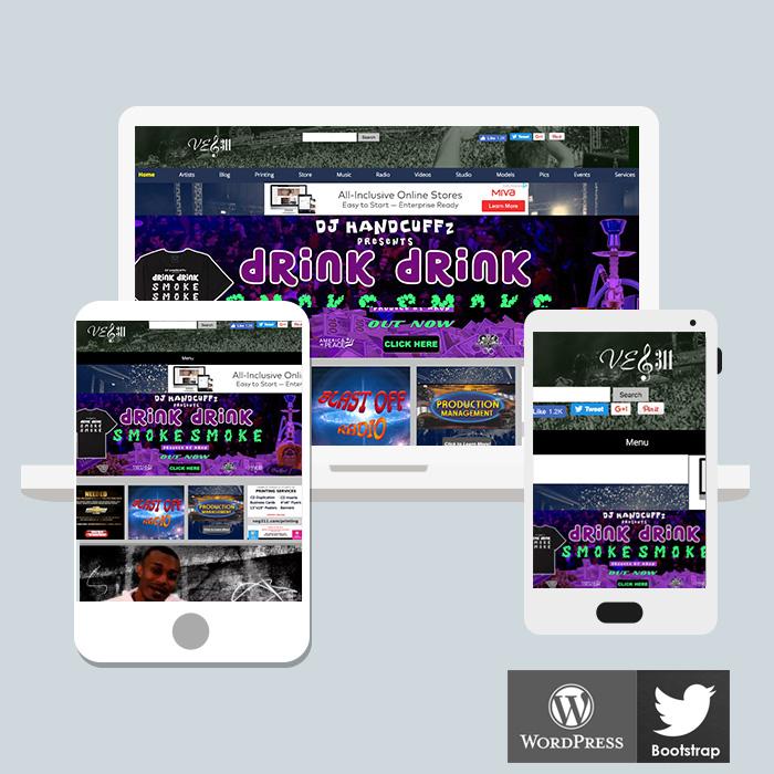 Website design for Record Labels